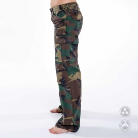 Pants Women Cargo Jungle MLC 45041 Canvas Slim Fit Camo Green
