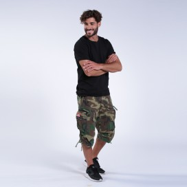 Βερμούδα 3/4 MLC 45056 Canvas Cap Pocket Zipper Loose Fit Camo Green