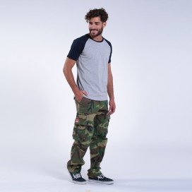 Pants MLC 50005 Canvas Zipper Loose Fit Camo Green