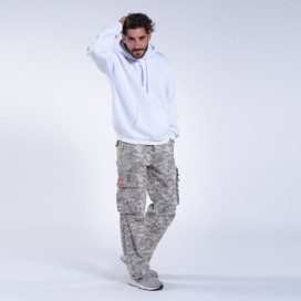 Παντελόνι MLC 50005 Canvas Zipper Digital Grey Loose Fit