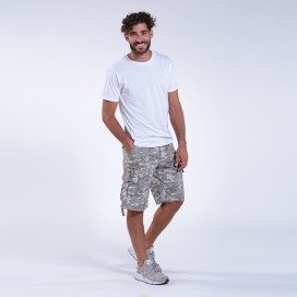 Βερμούδα MLC 55001 Rip Stop Digital Grey Regular Fit