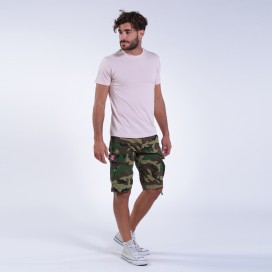 Βερμούδα MLC 55002 Rip Stop Shortcuts Slim Fit Camo Green