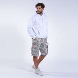 Shorts MLC 50007 Digital Grey Canvas Zipper Regular Fit