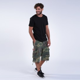 Shorts 3/4 MLC 96214 Canvas One Pocket Loose Fit Camo Green