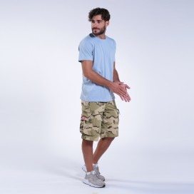 Βερμούδα MLC 45020 Canvas Zipper Regular Fit Camo Desert