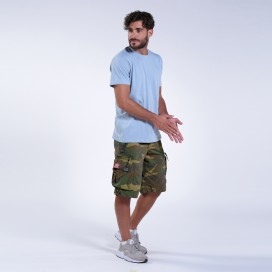 Shorts MLC 45020 Canvas Zipper Regular Fit Camo Green