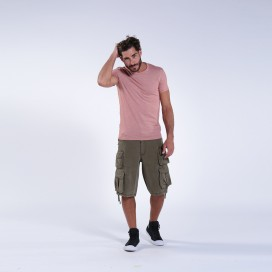 Βερμούδα 91414 Vintage Canvas Nine Pockets Loose Fit