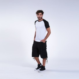 Βερμούδα Light Canvas Double Pocket Loose Fit