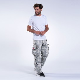 Παντελόνι MLC 45019 Canvas Zipper Digital Grey Loose Fit