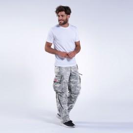 Pants MLC 45019 Canvas Zipper Digital Grey Loose Fit