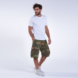 Βερμούδα MLC 50007 Canvas Zipper Regular Fit Camo Green