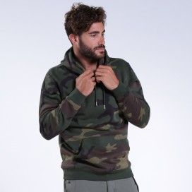 Hoodie 48045 Organic Cotton Blend 300 Gsm Slim Fit Woodland Camo
