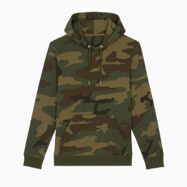 Hoodie 48045 SS Camo Unisex Organic Cotton Blend 300 Gsm Regular Fit Woodland
