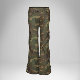 Pants Women Low Cuts MLC 45062 Camo Canvas Slim Fit