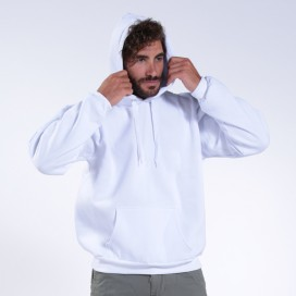 Μπλούζα Hoodie 00043 Inner Fluff Cotton Blend 320 Gsm Regular Fit White