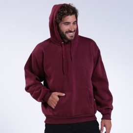Μπλούζα Hoodie 00043 Inner Fluff Cotton Blend 320 Gsm Regular Fit Burgundy
