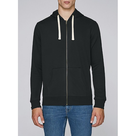 Jacket M Zipped Hoody Organic Cotton Blend