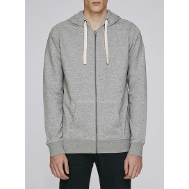 Jacket M Zipped Hoody 320 Gsm Organic Cotton Blend Heather Grey