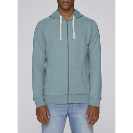 Jacket M Zipped Hoody 320 Gsm Organic Cotton Blend Citadel Blue