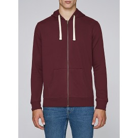 Jacket M Zipped Hoody 320 Gsm Organic Cotton Blend Burgundy