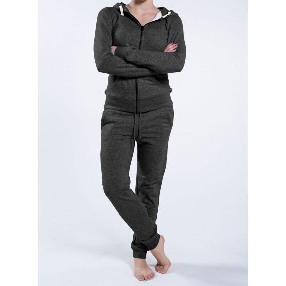 Ζακέτα W Zipped Hoody 320 Gsm Organic Cotton Blend Dark Heather Grey