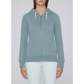 Jacket W Zipped Hoody 320 Gsm Organic Cotton Blend Citadel Blue