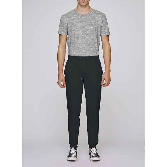 Pants M Jogging 320 Gsm Organic Cotton Blend Stretch Limo (Black)
