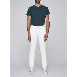Pants M Jogging 300 Gsm Organic Cotton Blend White