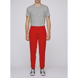 Pants M Jogging 300 Gsm Organic Cotton Blend Bright Red