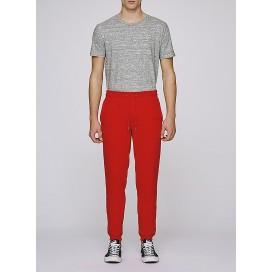 Pants M Jogging 300 Gsm Organic Cotton Blend Bright Red