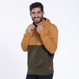 Hoodie 02042 SDS Double Cotton Blend 320 Gsm Slim Fit Camel/Khaki