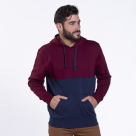 Hoodie 02042 SDS Double Cotton Blend 275 Gsm Slim Fit Burgundy/Navy