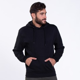 Blouse Hoodie 01042 DS Cotton Blend 275 Gsm Slim Fit Black