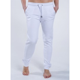 Pants W Jogging 300 Gsm Organic Cotton Blend White