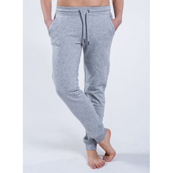 Pants W Jogging 300 Gsm Organic Cotton Blend Heather Grey
