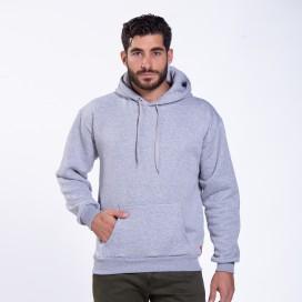 Hoodie MLC Fluffy 00043 Cotton Blend 320 Gsm Regular Fit Sport Grey