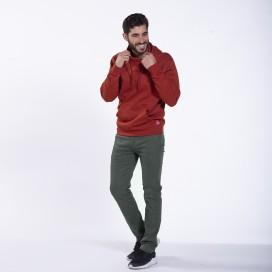 Παντελόνι 01032 Chino DS Cotton Blend Super Slim Fit Olive