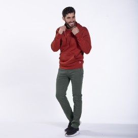 Pants Chino 01032 DS Cotton Blend Super Slim Fit Olive