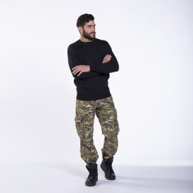 Pants MLC 50005 Canvas Zipper Loose Fit Multi Camo