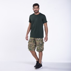 Βερμούδα MLC 50007 Canvas Zipper Regular Fit Multi Camo