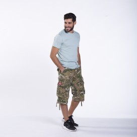 Shorts 3/4 MLC 50006 Canvas Zipper Regular Fit Multi Camo