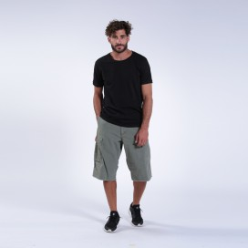 Βερμούδα Cargo MOLECULE® 49015 Three Quarters One Pocket Cotton Canvas Loose Fit