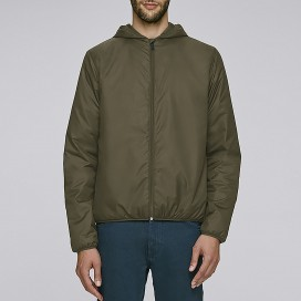 Jacket M Recycled Windbraker Khaki