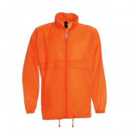 Jacket Sirocco Windbreaker Light Weight Nylon Orange