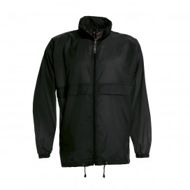 Jacket Sirocco Windbreaker Light Weight Nylon Black