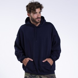 Hoodie 00043 Inner Fluff Cotton Blend 320 Gsm Regular Fit Navy