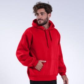 Hoodie 00043 Inner Fluff Cotton Blend 320 Gsm Regular Fit Red