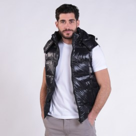 Puffer Shiny Vest 01042 Black