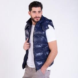 Puffer Shiny Vest 01042 Navy