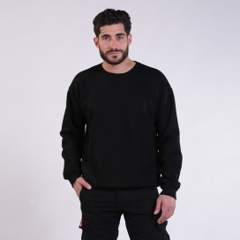 Sweatshirt 00042 Inner Fluff Cotton Blend 320 Gsm Regular Fit Black